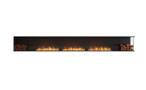 Flex 158RC.BX2 Angle droit - Ethanol / Black / Installed View by EcoSmart Fire