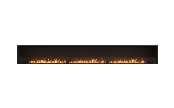 Flex 158SS Simple face - Ethanol / Black / Installed View by EcoSmart Fire