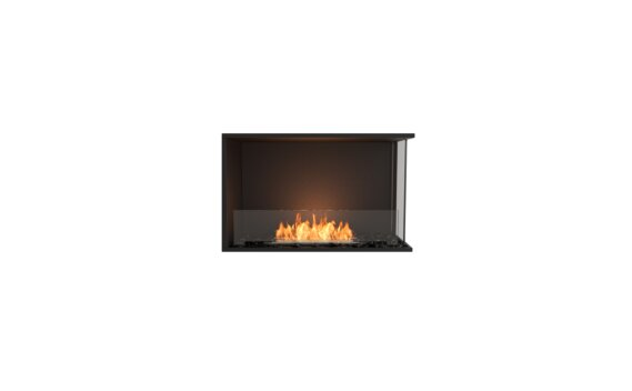 Flex 32RC Angle droit - Ethanol / Black / Installed View by EcoSmart Fire