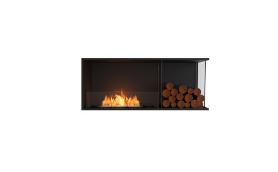Flex 50RC.BXR Angle droit - Ethanol / Black / Installed View by EcoSmart Fire