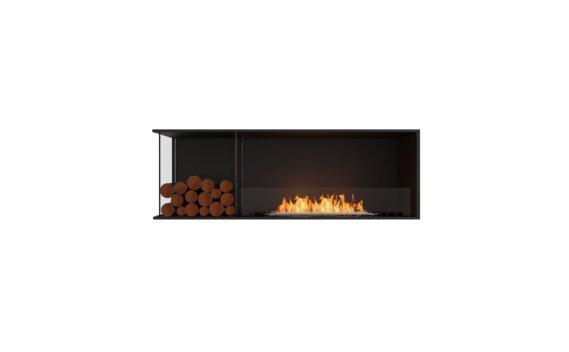 Flex 60LC.BXL Angle gauche - Ethanol / Black / Installed View by EcoSmart Fire
