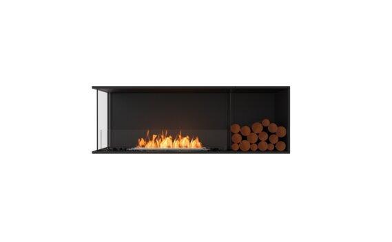 Flex 60LC.BXR Angle gauche - Ethanol / Black / Installed View by EcoSmart Fire