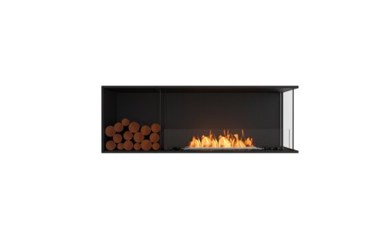 Flex 60RC.BXL Angle droit - Ethanol / Black / Installed View by EcoSmart Fire