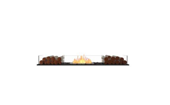 Flex 68BN.BX2 Bench - Ethanol / Black / Installed View by EcoSmart Fire
