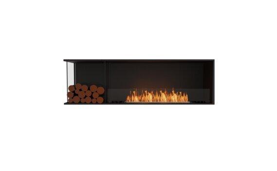 Flex 68LC.BXL Angle gauche - Ethanol / Black / Installed View by EcoSmart Fire