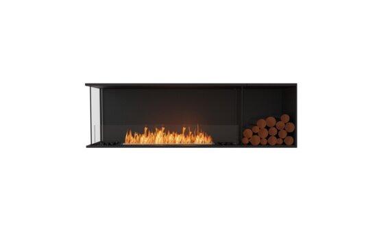 Flex 68LC.BXR Angle gauche - Ethanol / Black / Installed View by EcoSmart Fire