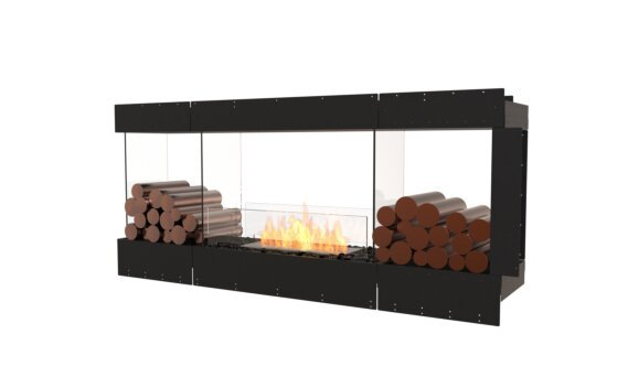 Flex 68PN.BX2 Péninsule (trois faces) - Ethanol / Black / Uninstalled View by EcoSmart Fire