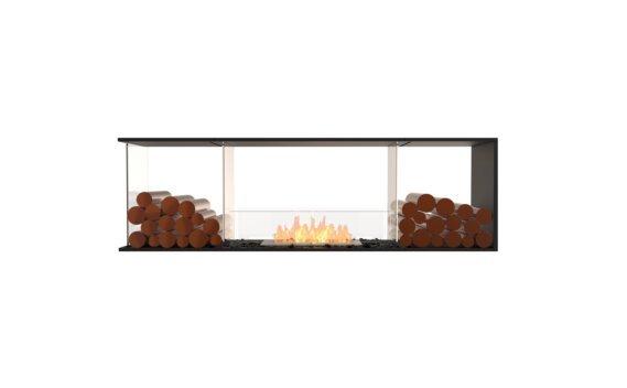 Flex 68PN.BX2 Péninsule (trois faces) - Ethanol / Black / Installed View by EcoSmart Fire