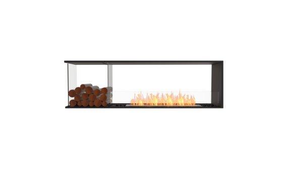 Flex 68PN.BXL Péninsule (trois faces) - Ethanol / Black / Installed View by EcoSmart Fire