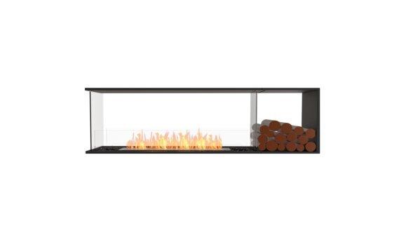 Flex 68PN.BXR Péninsule (trois faces) - Ethanol / Black / Installed View by EcoSmart Fire