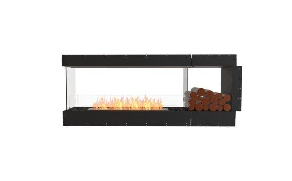 Flex 68PN.BXR Péninsule (trois faces) - Ethanol / Black / Uninstalled View by EcoSmart Fire