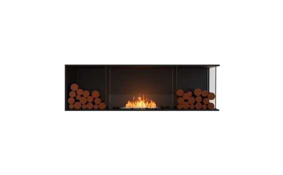 Flex 68RC.BX2 Angle droit - Ethanol / Black / Installed View by EcoSmart Fire