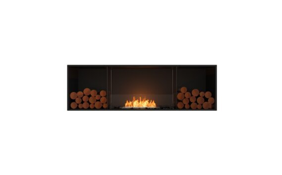 Flex 68SS.BX2 Simple face - Ethanol / Black / Installed View by EcoSmart Fire