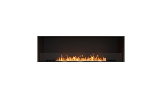Flex 68SS Simple face - Ethanol / Black / Installed View by EcoSmart Fire
