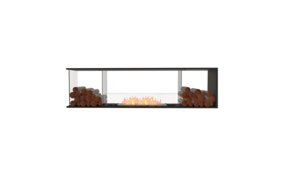 Flex 78PN.BX2 Péninsule (trois faces) - Ethanol / Black / Installed View by EcoSmart Fire