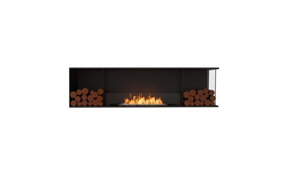 Flex 78RC.BX2 Angle droit - Ethanol / Black / Installed View by EcoSmart Fire
