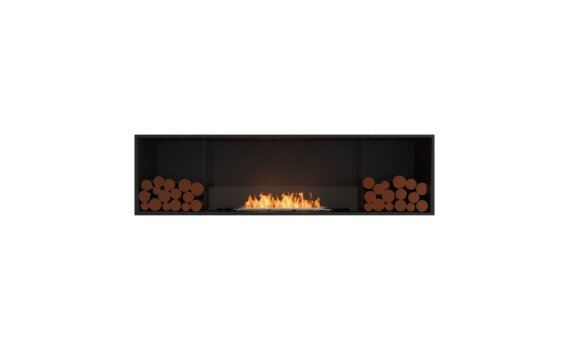 Flex 78SS.BX2 Simple face - Ethanol / Black / Installed View by EcoSmart Fire