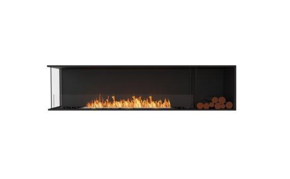 Flex 86LC.BXR Angle gauche - Ethanol / Black / Installed View by EcoSmart Fire