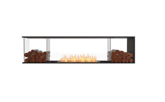 Flex 86PN.BX2 Péninsule (trois faces) - Ethanol / Black / Installed View by EcoSmart Fire