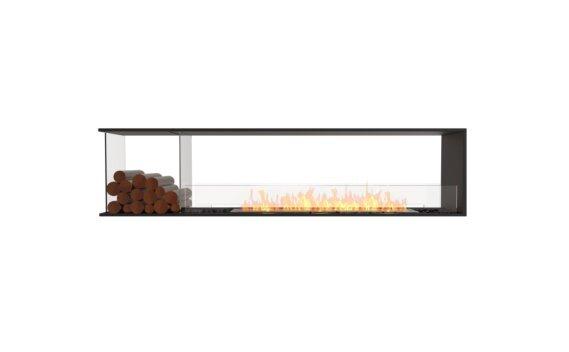 Flex 86PN.BXL Péninsule (trois faces) - Ethanol / Black / Installed View by EcoSmart Fire