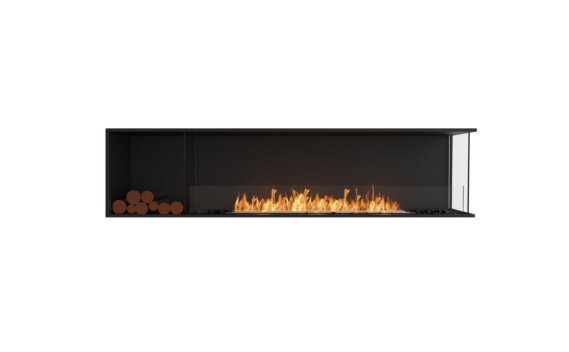 Flex 86RC.BXL Angle droit - Ethanol / Black / Installed View by EcoSmart Fire