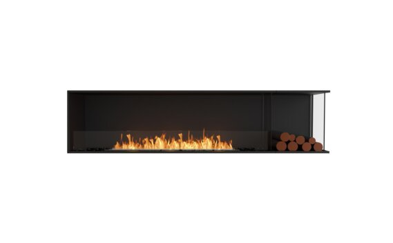 Flex 86RC.BXR Angle droit - Ethanol / Black / Installed View by EcoSmart Fire