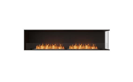 Flex 86RC Angle droit - Ethanol / Black / Installed View by EcoSmart Fire