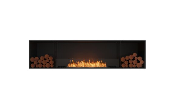 Flex 86SS.BX2 Simple face - Ethanol / Black / Installed View by EcoSmart Fire