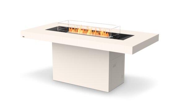 Gin 90 (Bar) Tables extérieure - Ethanol / Bone / Optional Fire Screen by EcoSmart Fire