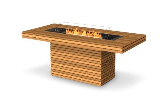 Gin 90 (Bar) Tables extérieure - Ethanol / Teak / Optional Fire Screen by EcoSmart Fire