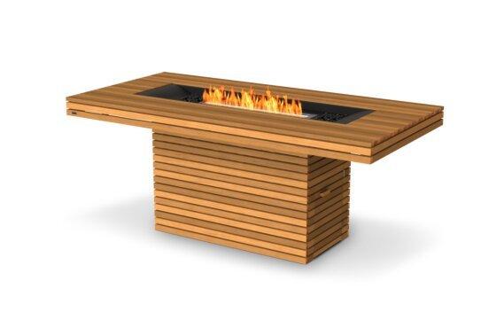 Gin 90 (Bar) Tables extérieure - Ethanol / Teak by EcoSmart Fire