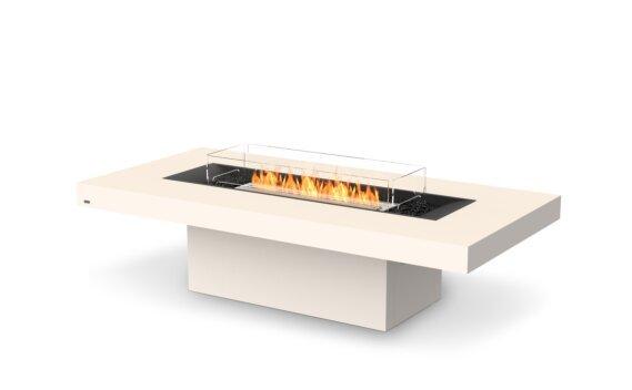Gin 90 (Chat) Tables extérieure - Ethanol / Bone / Optional Fire Screen by EcoSmart Fire