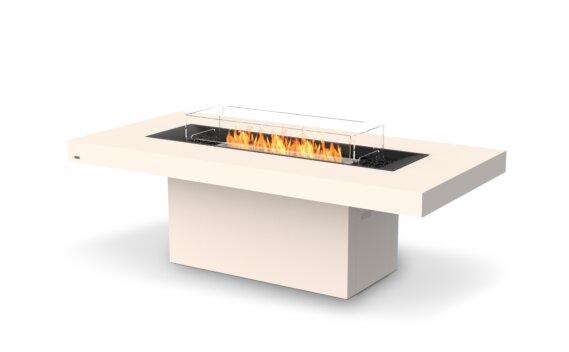 Gin 90 (Dining) Tables extérieure - Ethanol / Bone / Optional Fire Screen by EcoSmart Fire