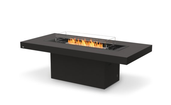 Gin 90 (Dining) Tables extérieure - Ethanol / Graphite / Optional Fire Screen by EcoSmart Fire