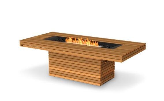 Gin 90 (Dining) Tables extérieure - Ethanol / Teak / Optional Fire Screen by EcoSmart Fire