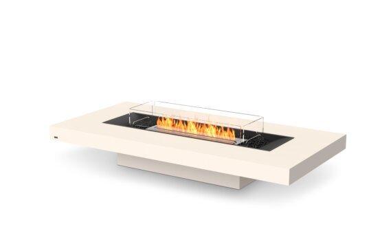Gin 90 (Low) Tables extérieure - Ethanol / Bone / Optional Fire Screen by EcoSmart Fire