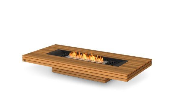 Gin 90 (Low) Tables extérieure - Ethanol / Teak by EcoSmart Fire