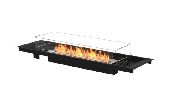 Linear Curved 65 Fire Pit Kit - Ethanol / Black / Indoor Safety Tray by EcoSmart Fire