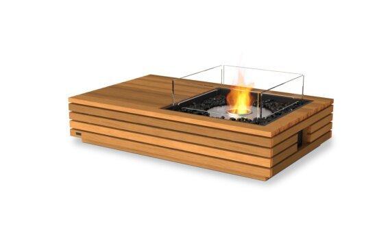 Manhattan 50 Tables extérieure - Ethanol / Teak / Optional Fire Screen by EcoSmart Fire