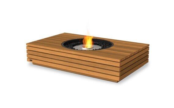Martini 50 Tables extérieure - Ethanol / Teak by EcoSmart Fire