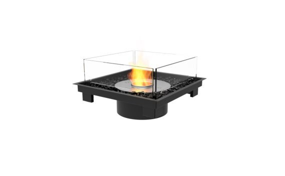 Square 22 Fire Pit Kit - Ethanol / Black / Indoor Safety Tray by EcoSmart Fire