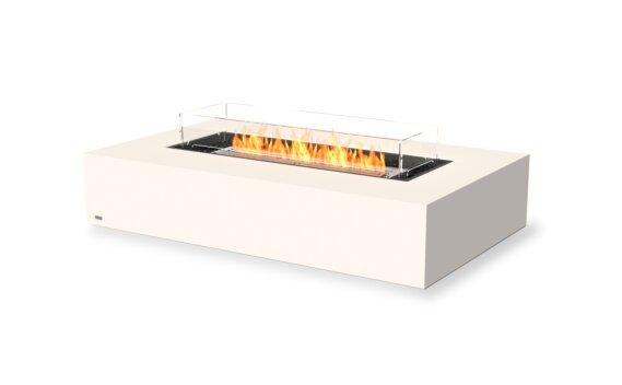 Wharf 65 Tables extérieure - Ethanol / Bone / Optional Fire Screen by EcoSmart Fire