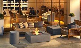 Commercial Space Commercial Fireplaces Tables extérieure Idea