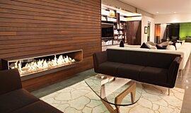 Private Residence Linear Fires Brûleurs éthanol Idea