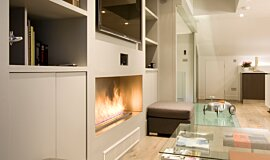 Private Residence Linear Fires Inserts de cheminée Idea