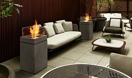 Merkmal Showroom Commercial Fireplaces Braseros éthanol Idea