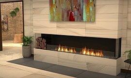 Lounge Area Linear Fires Baie (trois faces) Idea
