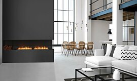 Living Area Linear Fires Angle droit Idea