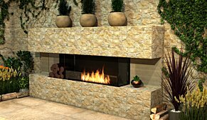 Flex 68BY.BX2 Baie (trois faces) - In-Situ Image by EcoSmart Fire