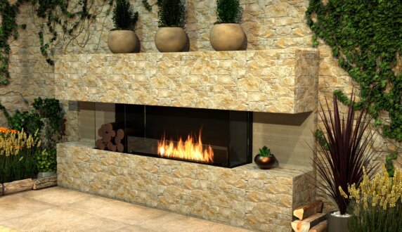 Outdoor Setting - Flex 86BY.BXL Série Flex by EcoSmart Fire